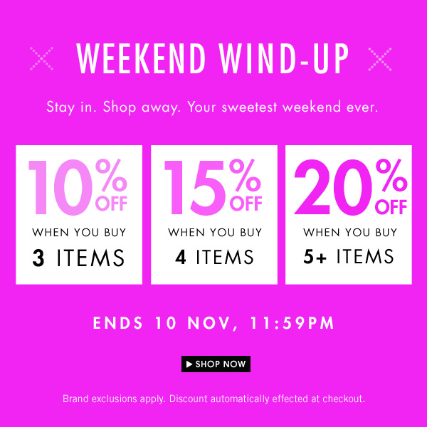 Up to 20% off when 5+ items