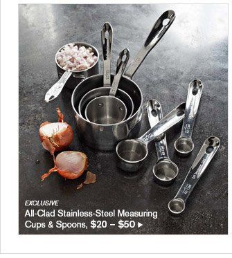 EXCLUSIVE - All-Clad Stainless-Steel Measuring Cups & Spoons, $20 - $50