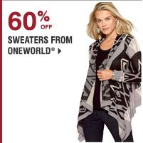 60% off sweaters from Oneworld.® Shop now.
