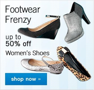 Up to 50% off women's shoes. Shop now.
