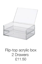 2 Drawer flip-top acrylic box