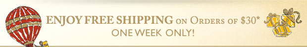 Free Shipping Over $30