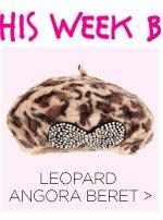 Shop Leopard Angora Beret