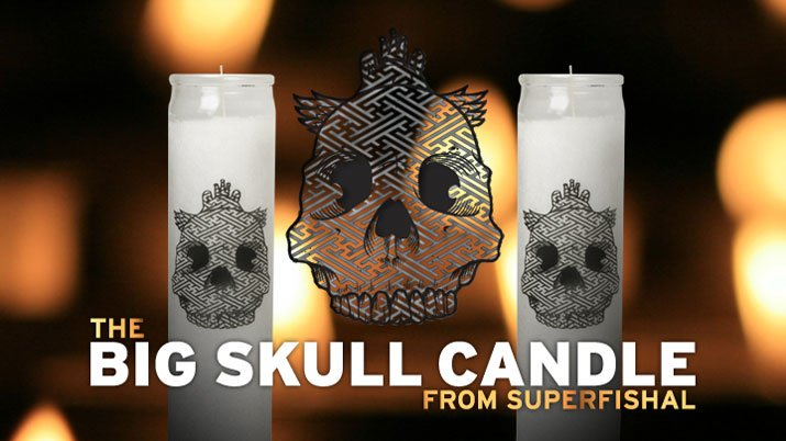 The Big Skull Candle
