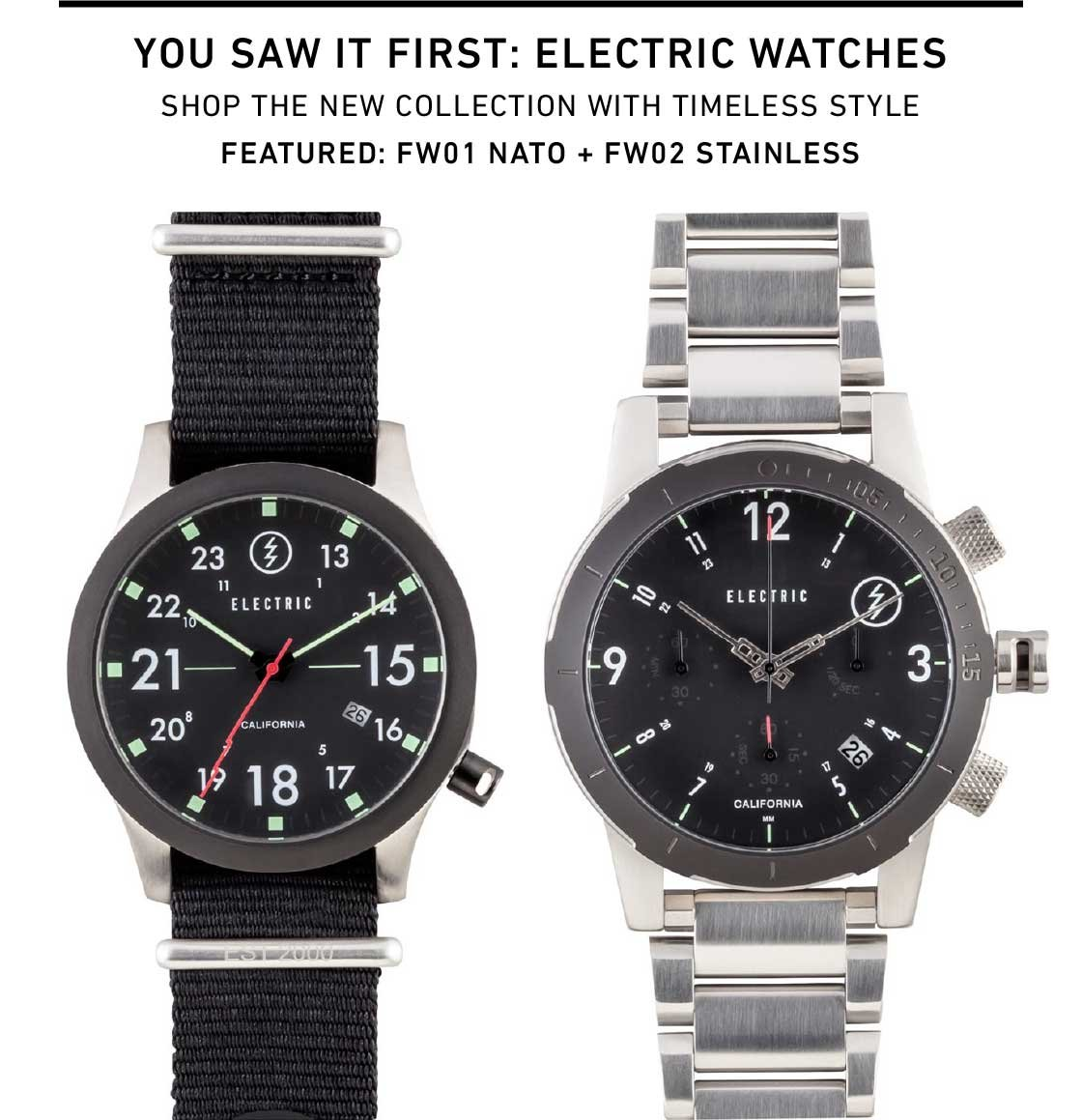 Shop New Watches from Electric
