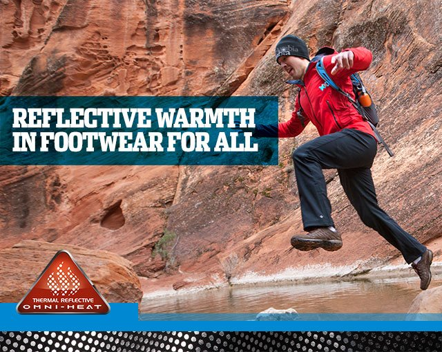 REFLECTIVE WARMTH IN FOOTWEAR FOR ALL
