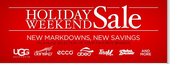 Find NEW markdowns plus additional savings on great styles from Dansko, UGG®, ABEO, ECCO and more during our Holiday Weekend Sale! Enjoy a FREE Cozy Polar Fleece Blanket with any purchase of $150 or more.* Shop now for the best selection online and in stores at The Walking Company.