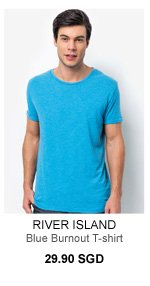 Blue Burnout T Shirt