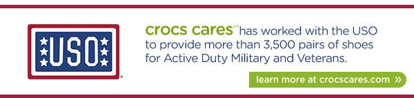 learn more at crocscares.com