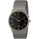 Skagen 233XLTTMO Men's Denmark Titanium Sporty Grey Sunray Dial Date Mesh Bracelet Watch
