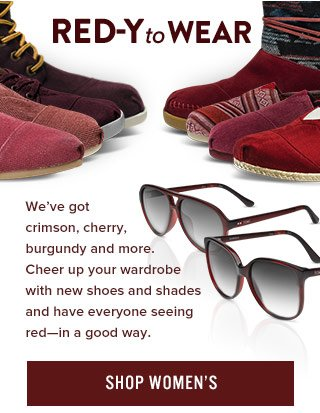 Red-y to wear. Shop Women's Holiday Reds