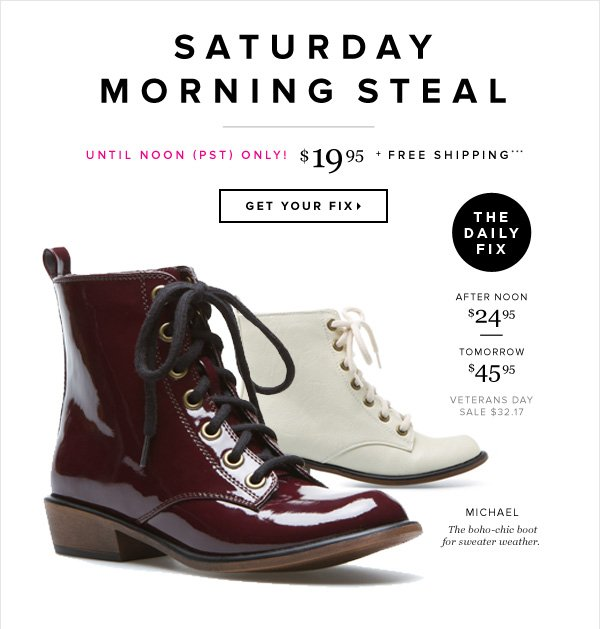 Saturday Morning Steal 1-Day-Only Pricing + Free Shipping*** - - Get Your Fix