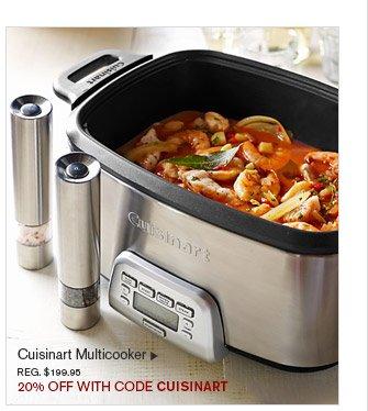 Cuisinart Multicooker, REG. $199.95 -- 20% OFF WITH CODE CUISINART