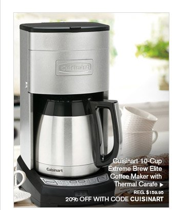 Cuisinart 10-Cup Extreme Brew Elite Coffee Maker with Thermal Carafe, REG. $159.95 -- 20% OFF WITH CODE CUISINART