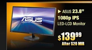 """ASUS 23.8"""" 1080p IPS LED-LCD Monitor"""
