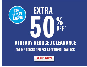 Extra 50% Off Clearance!