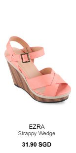 EZRA Strappy Wedge With Weaved Rope Detailing