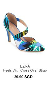 EZRA Pointed Heels With Cross Over Strap