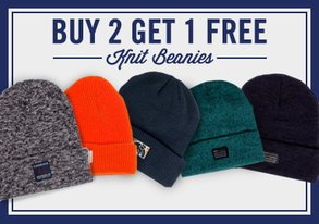 Shop Buy 2, Get 1 FREE: Knit Beanies