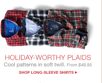 HOLIDAY-WORTHY PLAIDS | SHOP LONG-SLEEVE SHIRTS