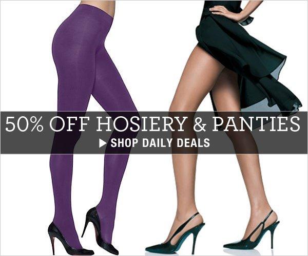 50% off Hosiery & Panties