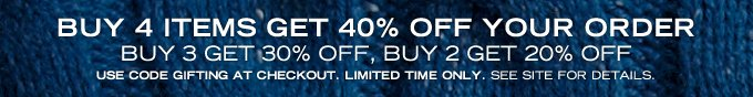 Limited Time! Buy 4 Items Get 40% Off Your Order! See Site For Details.