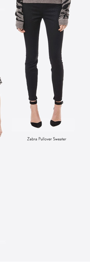 Zebra Pullover Sweater