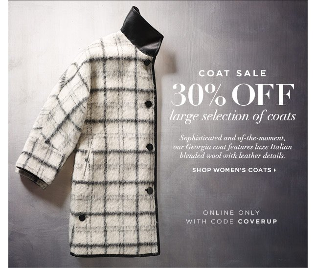 Ends Tomorrow! 30% Off A Large Selection Of Coats Online Only