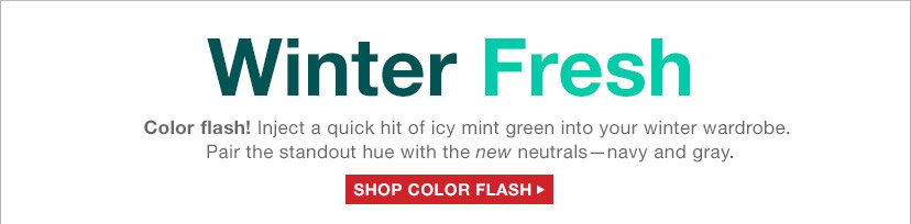 Winter Fresh | SHOP COLOR FLASH