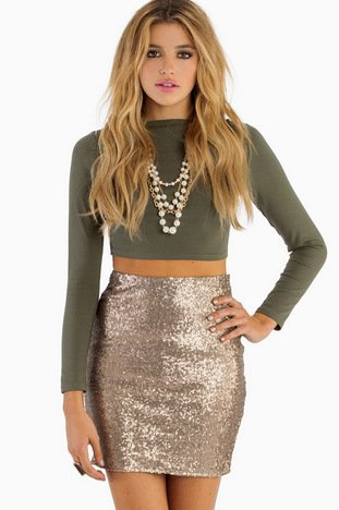 BE SEEN SEQUIN PENCIL SKIRT 37