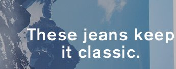 These jeans keep it classic.