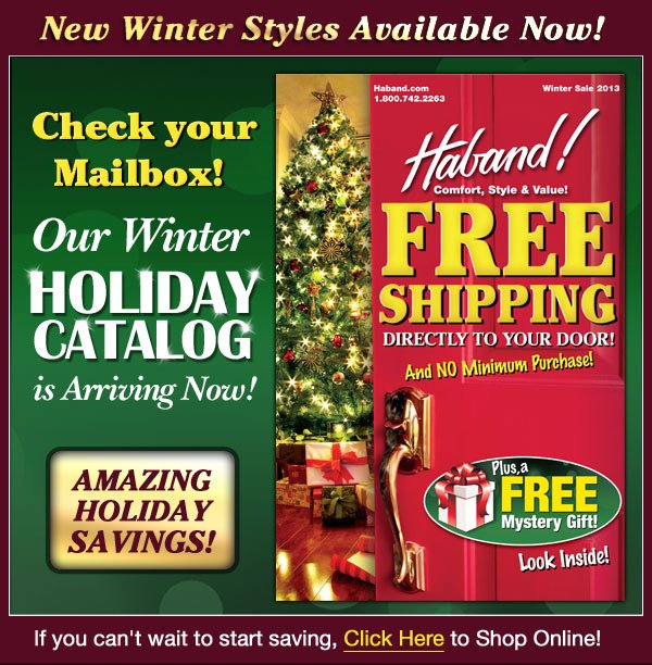 Winter Catalog Arrving Now!