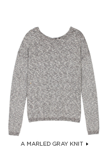 A Marled Gray Knit >