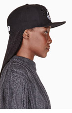 KENZO Black Big Eye Embroidered New Era edition cap for women