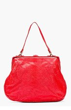 CHRISTIAN PEAU Red Lizardskin Tote for women
