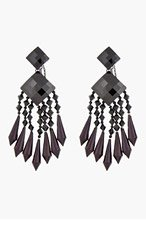 BALMAIN Black & Burgundy Chandelier Earrings for women