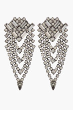 DANNIJO Gunmetal & Black Crystal Mariella Earrngs for women