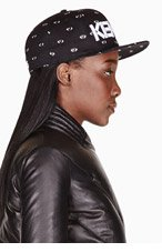 KENZO Black & white ALL OVER EYES NEW ERA edition cap for women