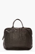 CHRISTIAN PEAU Charcoal Lizardskin Duffle Bag for women