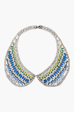 DANNIJO Blue Crystal Emmett Collar for women