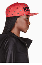 KENZO Red & Black ALL OVER EYES NEW ERA edition cap for women