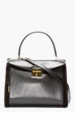 MARC JACOBS Black leather & suede the Grand Metropolitan tote for women