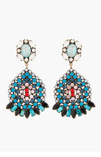 DANNIJO Blue Crystal & Turquoise Siobhan Earrings for women