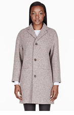 A.P.C. Brown basketwoven classic coat for women