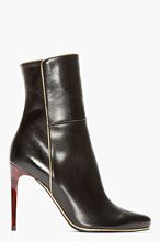 BALMAIN Black tortoiseshell-heeled Ankle Boots for women