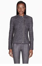 MARC BY MARC JACOBS Heather grey Wool Double Face Gertrude Biker Jacket for women