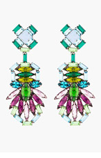 DANNIJO Purple Crystal Barney Drop Earrings for women