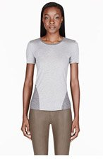 HELMUT HELMUT LANG Heather grey Halt Rib T-Shirt for women