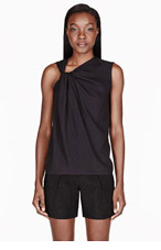 HELMUT LANG Black Render Twisted Neck Top for women