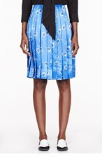 MARC JACOBS Blue Daisy print PLEATED SKIRT for women